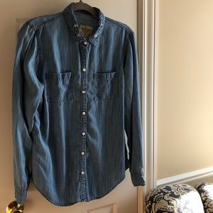 Abercrombie and Fitch embellished denim shirt-L